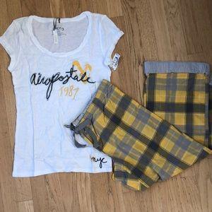 2 Piece Aeropostale Pajama Set Sz L New with Tags